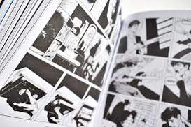 Black and white pages of a comic.