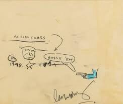 An image of Jean-Michel Basquiats /Action Comics/.