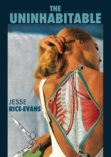 The cover shows a woman's back open with a zipper to expose muscle and bone.